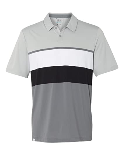 d0c78b4b64b4 adidas A136 Men s Climacool Engineered Stripe Sport Shirt Stone Vista  Grey White 3XL
