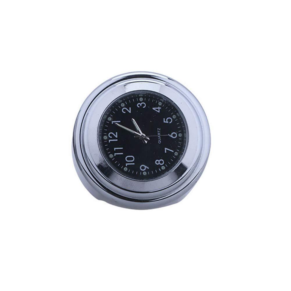 omufipw Lumineux Horloge de Guidon pour Moto É tanche Thermomè tre Moto Universel Accessoire 45.5 * 45.5 * 28 mm Noir