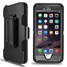 iPhone 6 case, iPhone 6s case MBLAI Defender [4 Layers][Rugged Rubber][Shock Absorbent][Drop Proof][ Built-in Screen Protector][Max Protection]Case Cover For iPhone 6/6s[4.7 inch](Black)