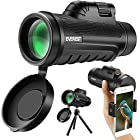 12x50 Monocular Telescope,Everest High Powered Lens Scope with BAK4 Prism and FMC
