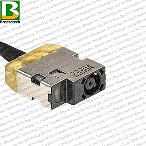 Breezetech 3 Pieces DC Power Jack Socket Cable Harness Connector Wire Port Plug for HP Envy 15.6 TouchSmart 15 15Z-Q 15-j030us 15-j031nr 15-Q487NR 15z-q100 15T-J000 15T-J100 713705-YD4 CBL00361-0200