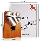 Kalimba Thumb Piano 17 Keys with mahogany Wood