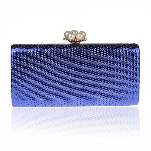 HIDOUYAL - Cartera de mano para mujer Plateado plata azul