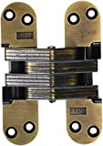 SOSS 220FR Zinc 20 Min. Fire Rated Hinge for 2'' Doors, Antique Brass Exterior Finish