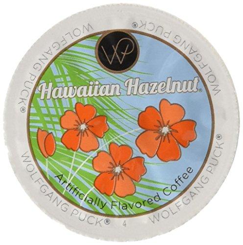 Wolfgang Puck Hawaiian Hazelnut Flavored Coffee Single Serve Cups for Keurig, 48 Count