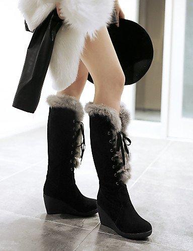 XZZ  Damenschuhe - - - Stiefel - Büro   Kleid   Lässig - Wildleder - Keilabsatz - Rundeschuh   Geschlossene Zehe - Schwarz   Braun   Rot   Beige B01L1GUCE0 Sport- & Outdoorschuhe Starker Wert 5cdb55
