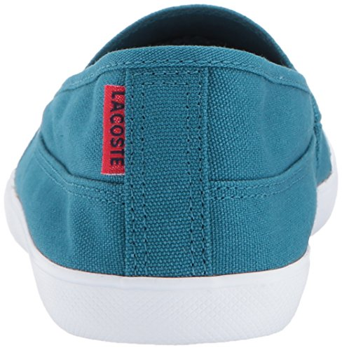 Lacoste Women's Marice 317 1 Fashion Shoe Sneaker, Blue, 5 M US