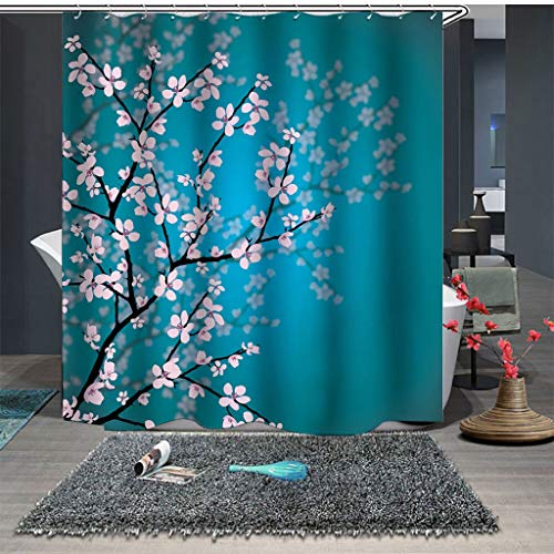 certainPL Fabric Shower Curtain Liner with Hooks, Waterproof Shower Curtains for Bathroom, 71