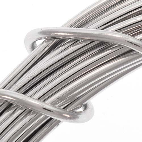 Beadsmith DA2602 Aluminum Gauge Coil Silver
