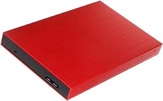 D DOLITY モバイルハードディスク USB3.0 高速転送 2.5インチ 外付けハードドライブ HDDエンクロージャケース 赤 - 500GB