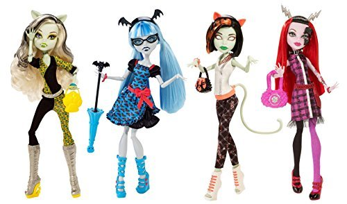 EXCLUSIVE Monster High Freaky Fusion 4-Pack Set: Frankie Stein, Operetta, Ghoulia Yelps, Scarah (Frankie Monster High Pictures)