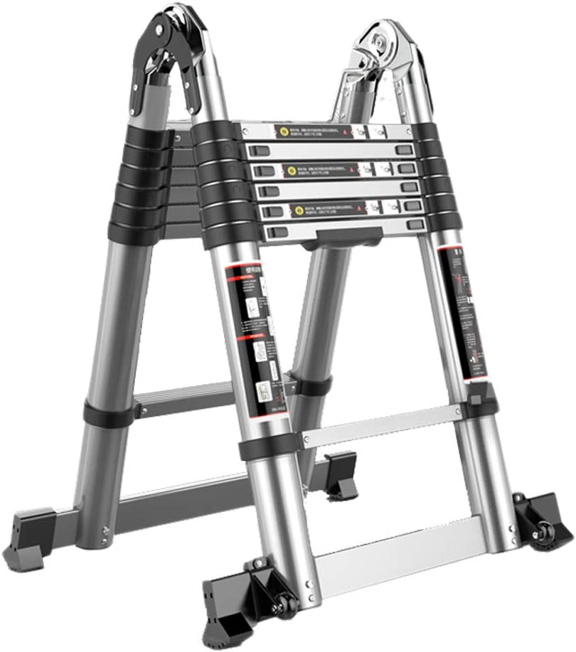 X-L-H Escalera telescópica, escalera minimalista moderna, escalera recta, escalera plegable de aluminio, cerradura de seguridad, pedal acolchado antideslizante, tamaños múltiples: Amazon.es: Bricolaje y herramientas