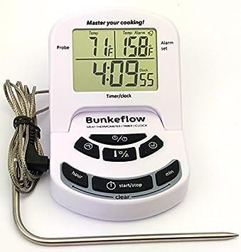 bunkeflow Digital termómetro de carne con sonda ...