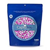 Colored Size 1 Empty Gelatin Capsules by Capsuline – Gray/Pink 1000 Count Review