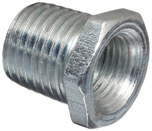 Anvil 2139 Forged Steel High Pressure Pipe Fitting, Class 6000, Hex Head Bushing, 1/4