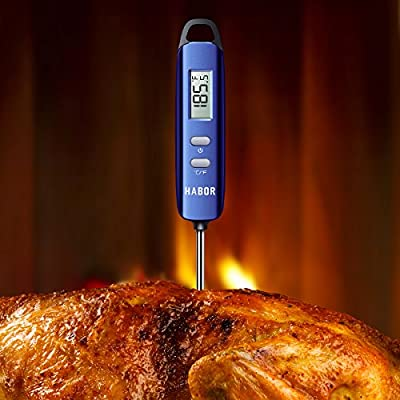Meat Thermometer, Habor Instant Read Thermometer Cooking Thermometer Candy Thermometer with Super Long Probe for Kitchen Cooking BBQ Grill Smoker Meat Fry Food Milk Yogurt from Habor
