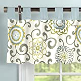 Carousel Designs Spa Pom Pon Play Window Valance Tab-Top