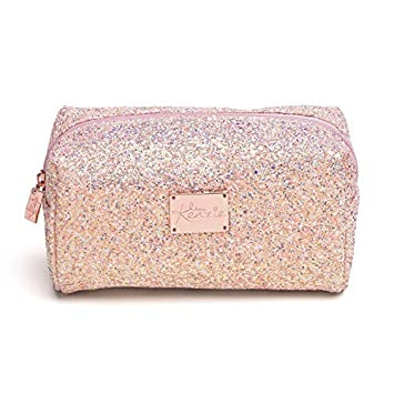 Amazon.com: Love Kenzie - Bolsa de maquillaje con purpurina ...