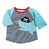 : Mud Pie Toddler Boys' Raglan T-Shirt, Pirate Shark, 2T/3T