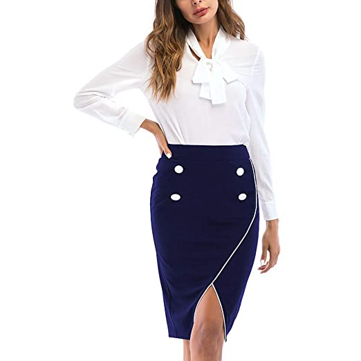 ChenYongPing Mujer Faldas Falda Corta Texturizada para Mujeres ...
