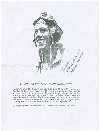 Commander William Robert Maxwell Printed Photograph Signed In Ink
