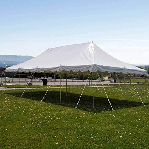 9TRADING 20x40' Commercial Pole Tent Party Wedding Canopy with Sidewalls Solid & - Memorial Block Plate