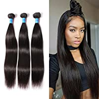MEIHOU 7A Brazilian Virgin Remy Hair 3 Bundles Unprocessed Virgin Human Hair Extensions Brazilian Straight Wave Natural Color 22 22 22