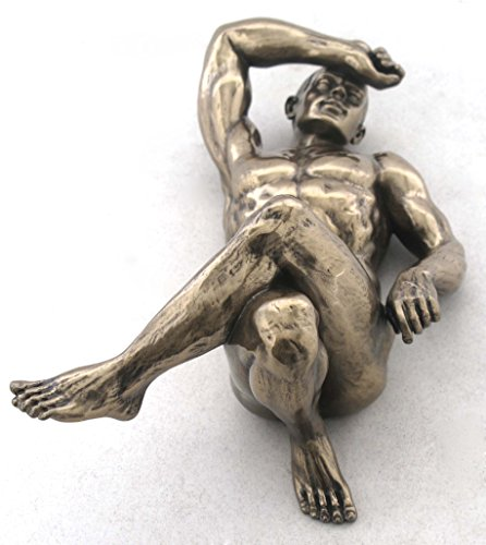 7.25 Inch Figure Male Nude Laying with Crossed Legs Display Decor