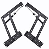 DIY 1pair Lift up Top Coffee Table Lifting Frame Mechanism Spring Hinge Hardware Air-Operated