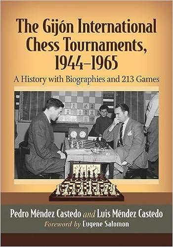 The Gijon International Chess Tournaments, 1944-1965: A ...
