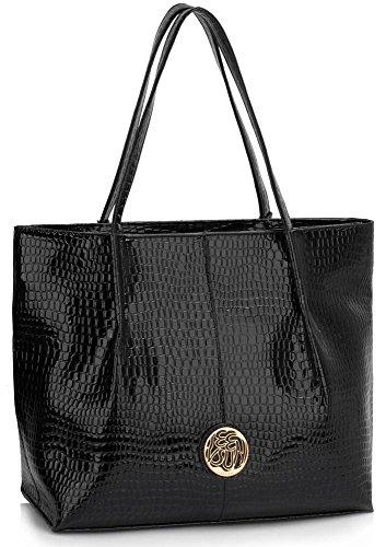 Shoulder Patent Women's Bag Nice 454 LeahWard Large Designer Ladies Size Quality Bag Black Bags Tote Handbags wXqRBOSK