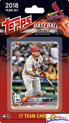 St. Louis Cardinals 2018 Topps Baseball EXCLUSIVE Special Limited Edition 17 Card Complete Team Set with Yadier Molina, Alex Reyes & Many More Stars & Rookies! Shipped in Bubble Mailer! WOWZZER! (Mlb Team Set Topps)