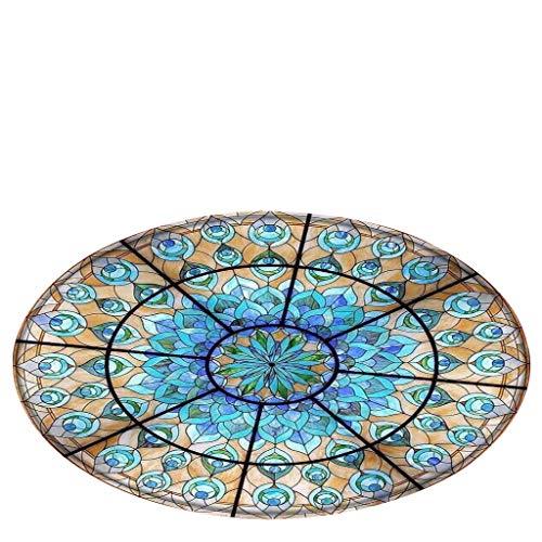 Ikevan 2019 Bath Rugs Notre Dame Glass Window Elements Blanket Round Bathroom carpet 120cm (F)