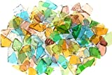 Mixed Colors Stained Glass Cobbles-8 ounces(half pound)