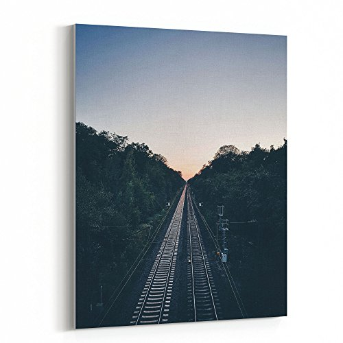 Westlake Art - Straight Track - 30x40 Canvas Print Wall Art - Canvas Stretched Gallery Wrap Modern Picture Photography Artwork - Ready to Hang 30x40 (Straight Wall Mobile)