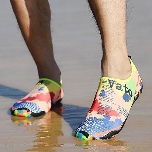 Traspirante Scarpe Spiaggia Yoga Surf Antiscivolo Donna Acqua Nuoto D' Pantofole Immersioni E Acquatici Sport Da 67 Uomo Runfon Per Bambino OvUdOq