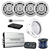 5 ch marine amp - Kenwood KAC-M1824BT Marine Bluetooth 4 Ch Amplifier, Kenwood Marine Speakers, Kenwood P-WD250MRW Marine Bass and Amp Package, RCA Male To Male Cable, Enrock 50 Foot Speaker Wire