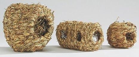 Van Riel - Nid pour hamster en roseau – 18 X 10 cm.