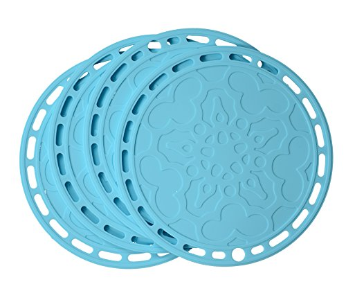 SHUOWEI Silicone Hot Pads, Multi-purpose Kitchen Tool, Pot Holder, Splatter Guard, Microwave Cover, Jar Opener, 8 Inches.
