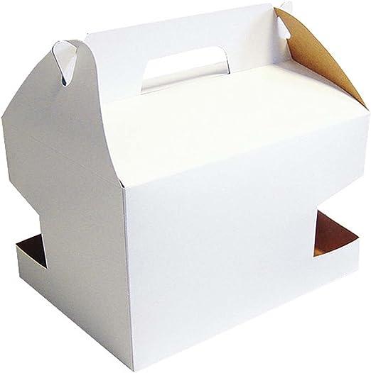 Pick d Pack - Caja picnic blanca 255 x 190 x 160 mm: Amazon.es: Hogar