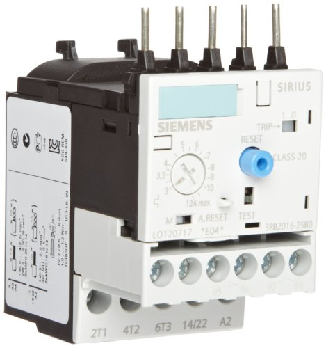 Siemens 3RB20 16- 2SB0 Solid State Overload Relay, Class 20, S00 Contactor Size, 3-12A Set Current Value by Siemens (Image #1)