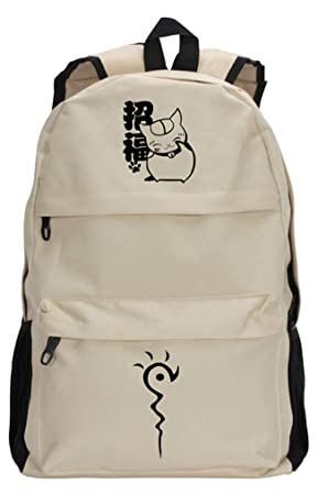 Sac Scolaire Tendance Backpack Cartable Beige Sacs à dos et sacs de sport Cosstars Natsumes Book of Friends Anime Sac à Dos
