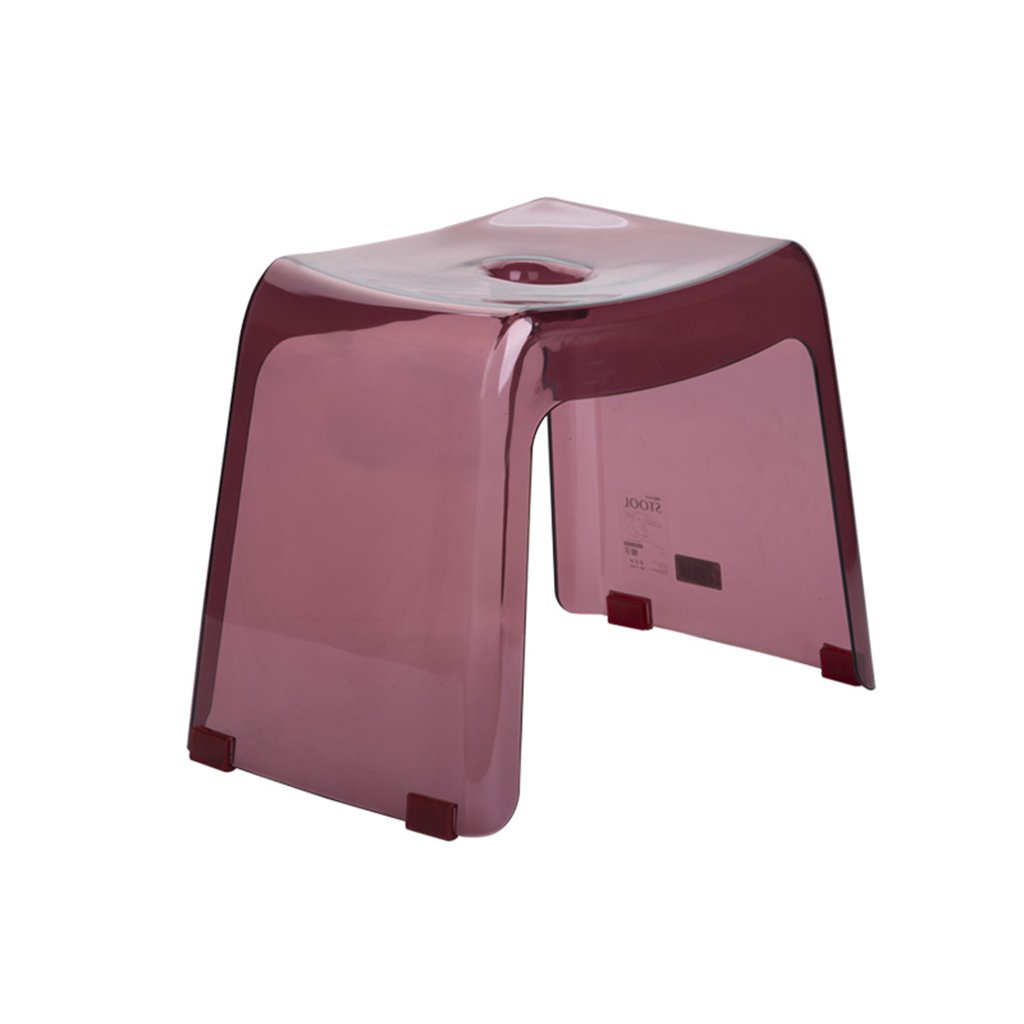Transfer Benches Japanese thickened bathroom stool Plastic anti-slip stool Door shoe bench Children's adult bathroom stool Pregnant woman and elderly shower shower stool Bath board Square stool by Li Na Home