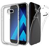 [2 Pack] Galaxy A5 (2017) Case, Zeking Ultra Slim Thin Anti-Scratch TPU Rubber Soft Skin Silicone Premium Protective Case Cover for Samsung Galaxy A5 (2017)(Transparent)