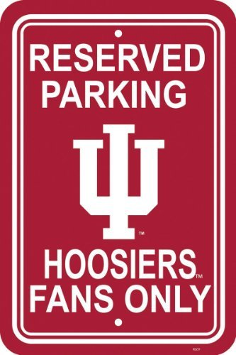 (NCAA Indiana Hoosiers 12-by-18 inch Plastic Parking Sign)