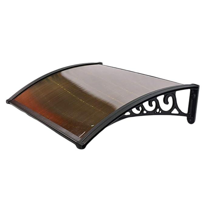 Tejadillo De Protección Marquesina Techo Puerta Exterior Alero Canopy Porche Refugio Impermeable Pérgola con Sombrilla for Patio Techo Hoja De Policarbonato Resistente A Los Rayos UV: Amazon.es: Hogar