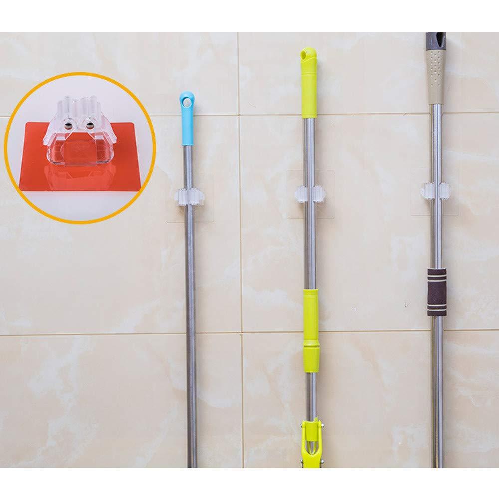 Weiliru Broom Holder, Multipurpose Wall Mounted Organizer Storage Hooks, Ideal Tools Hanger for Kitchen Garden, Bathroom Laundry Room,Garage
