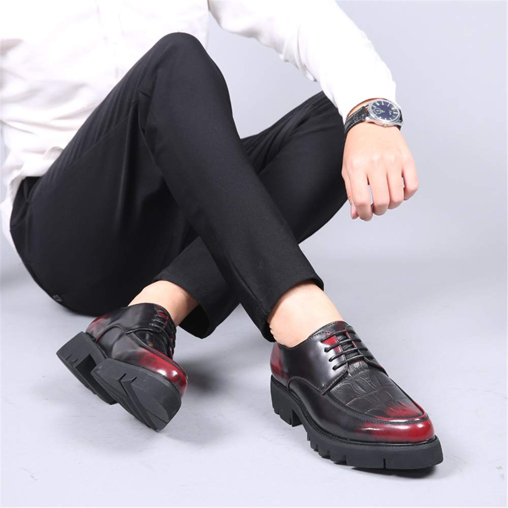 GBY Herrenmode Oxford Casual Bequeme Laufsohle Retro Retro Retro Wipe Lace Up Formale Schuhe Abendschuhe 8643dd