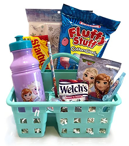 Frozen Gift - For Toddler - For Young Child - For Boy or Girl - Christmas Gift Basket- Lots Of Fun, Snacks, and Activities for Celebrating Christmas and Holiday Activities! (Frozen - Anna & Elsa)