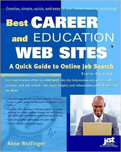 Livres en anglais téléchargement gratuit (Best Career and Education Web Sites: A Quick Guide to Online Job Search) By Wolfinger, Anne (Author) Paperback on (05 , 2009) en français PDF FB2 B0068GBACC